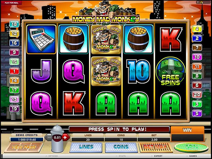 Money Mad Monkey Main Slots