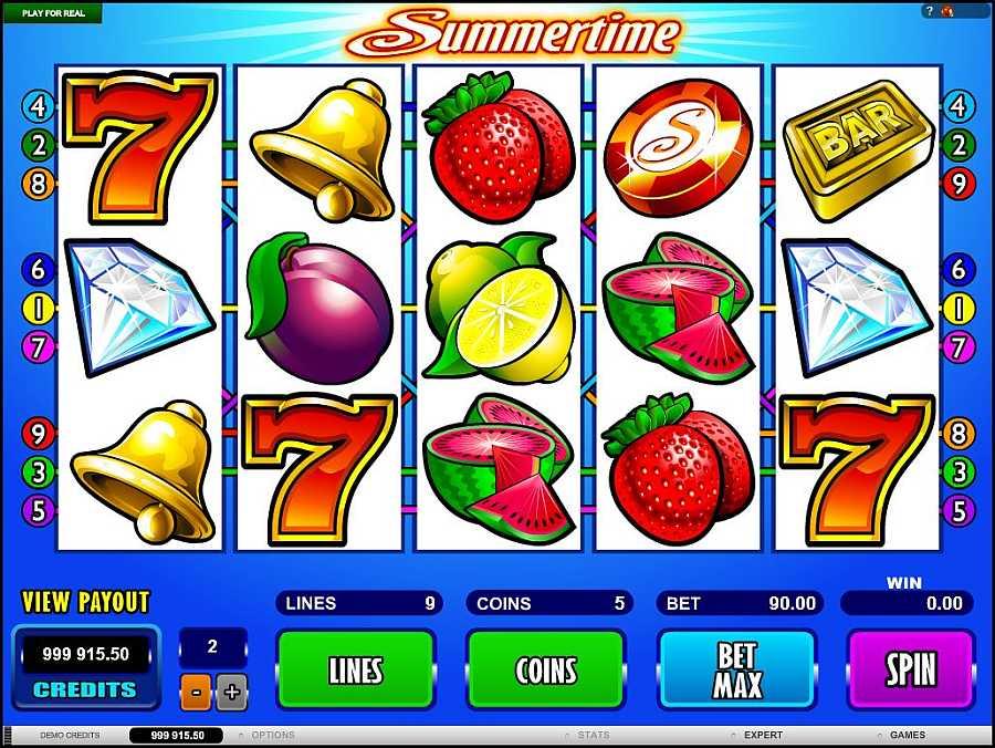 Summertime Main Slots