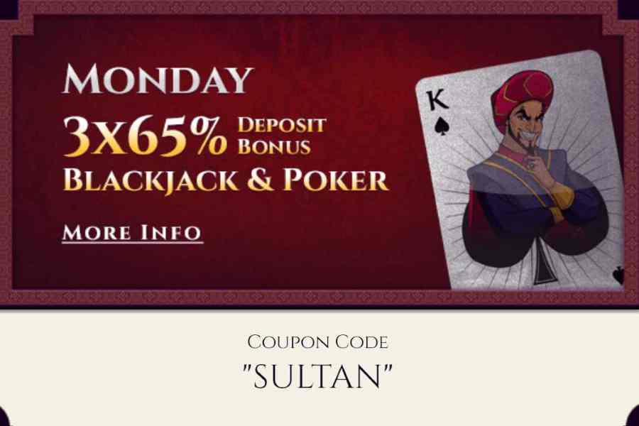 Aladdin's Gold Monday Deposit Code SLUTAN