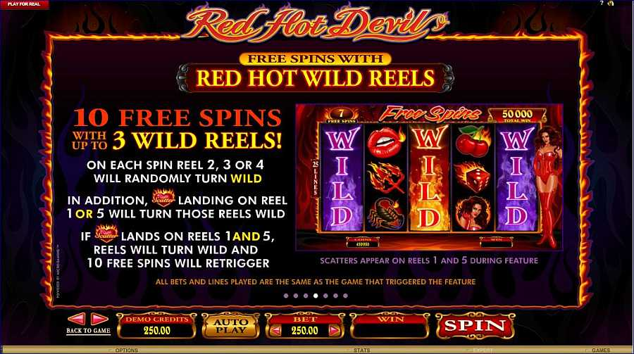 Red Dot Devil Red Hot Wild Reels Value