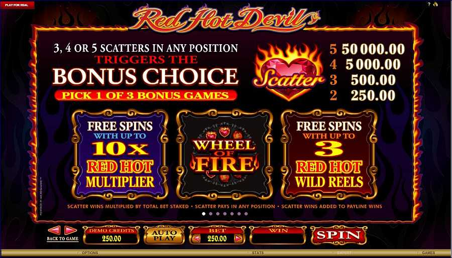 Red Hot Devil Feature Bonuses Value
