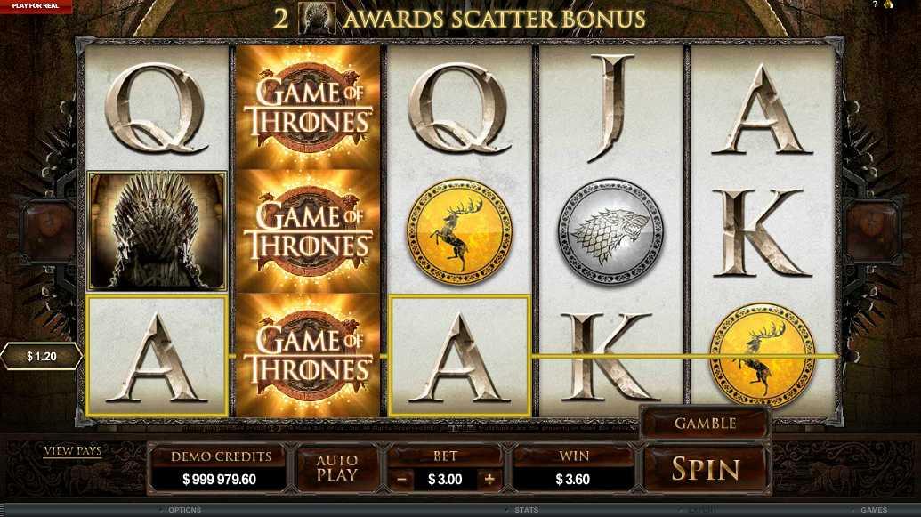 Game of thrones Wild Bonus