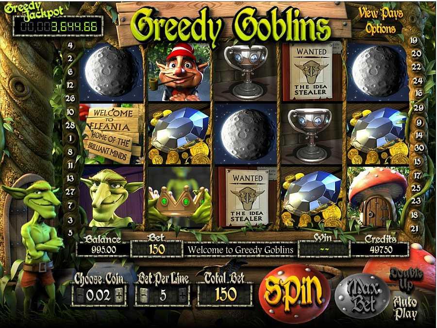 Main Slots Screen