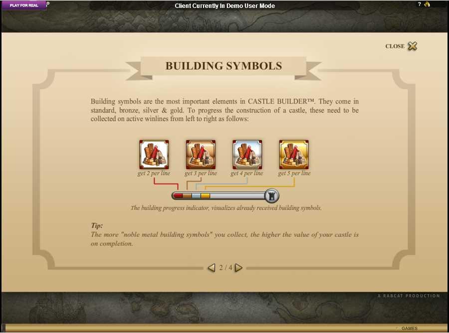 Castle Builder Bulding Symbols