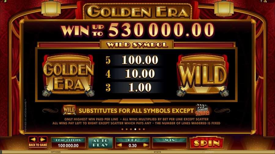 Golden Era Wild Bonus Feature