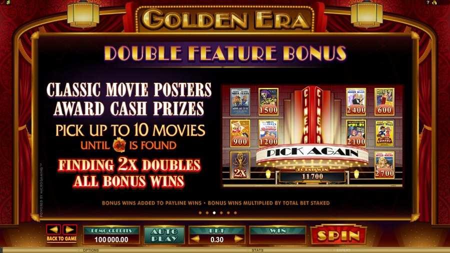 Golden Era Double Feature Bonus