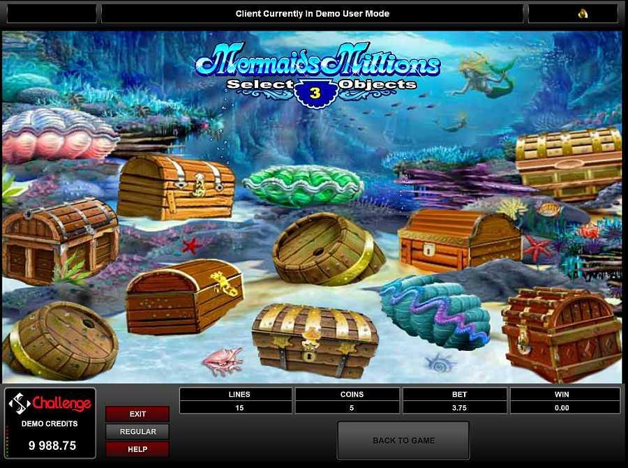 Mermaids Millions Choose Bonus