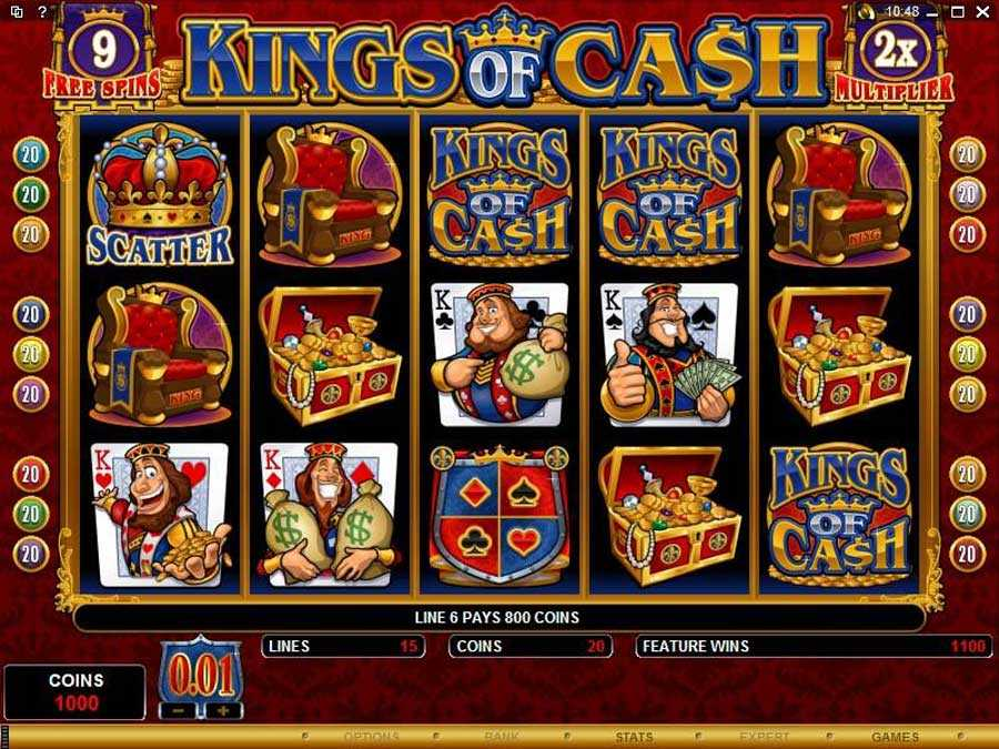 kings of cash free-Spin Play