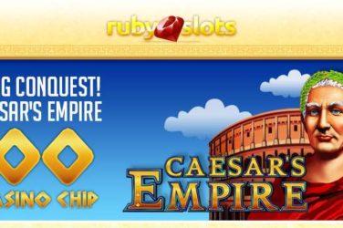 Ruby Slots No Deposit Code EMPIRE100