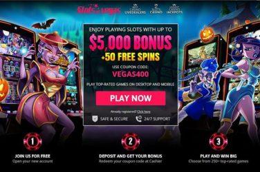 Slots of Vegas Bonus Code VEGAS400