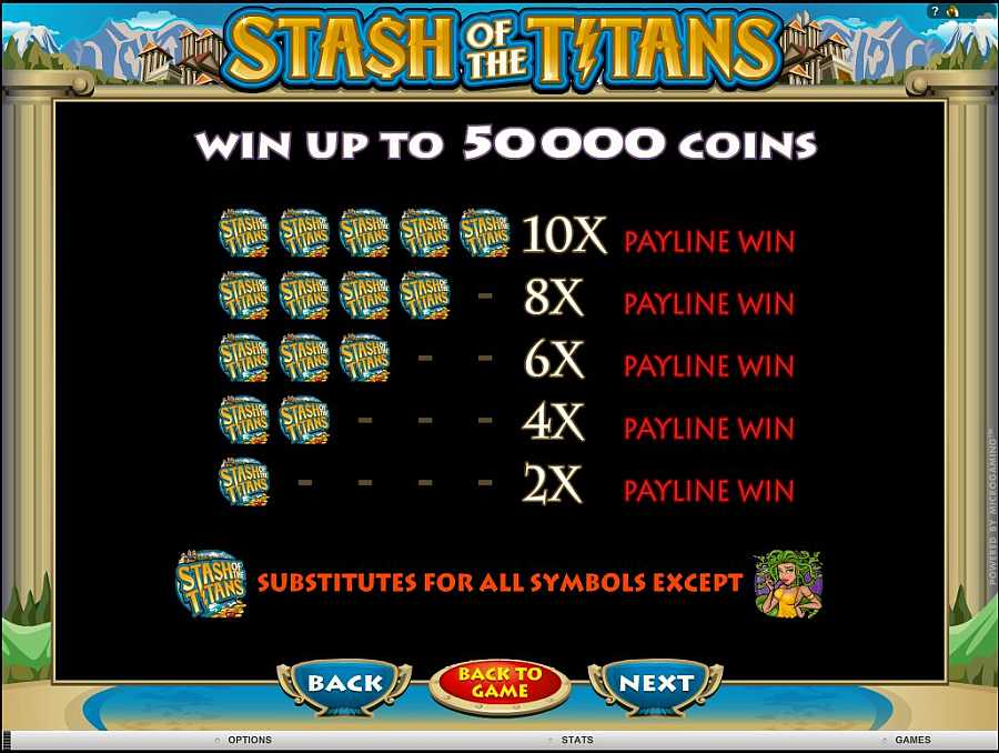 Stash of the titans Win $5000 Coins