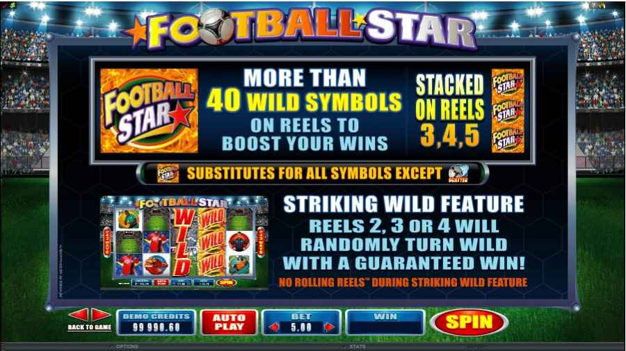 Football Star Wild Bonus Feature