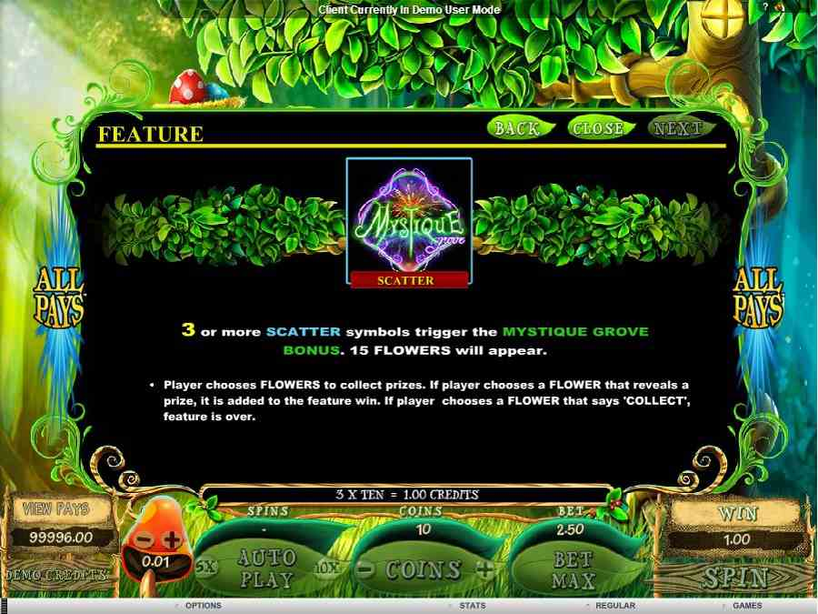 Mystique Grove Scatter Feature
