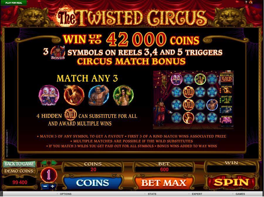Twisted Circus Symbol Bonus Feature