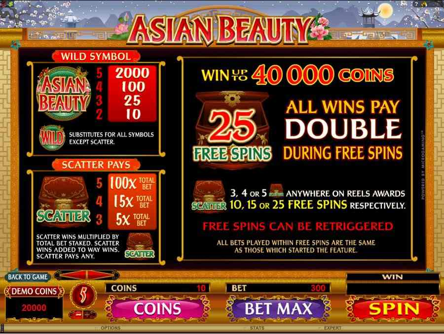 Asian Beauty Free Spins Feature