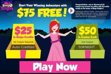 Bingo Knights No Deposit Bonus