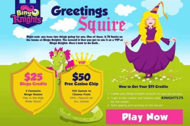 Bingo Knights No Deposit Bonus: KNIGHTS75