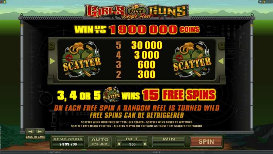Girls with Guns Free Spins Feature