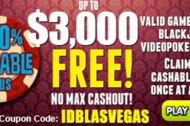 Las Vegas USA Deposit Code IDBLASVEGAS