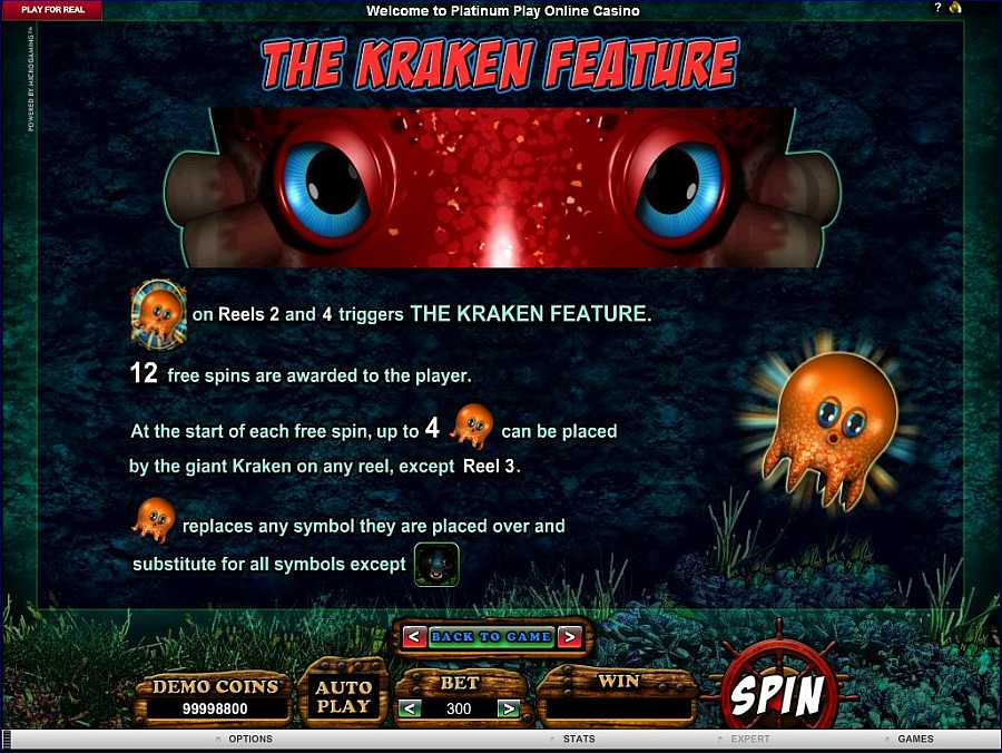 Octopays The Kraken Feature