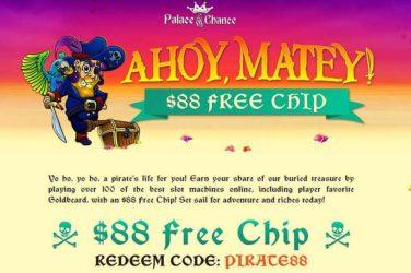 Palace of Chance No Deposit Code: PIRATE88