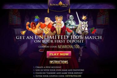 Royal Ace Unlimited Bonus Code NEWROYAL100