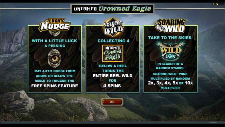 Untamed Crowned Eagle Bonus Features