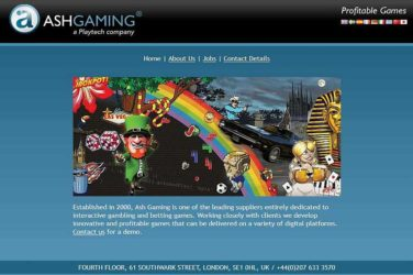 Ash Gaming Games Provider sold to playtech