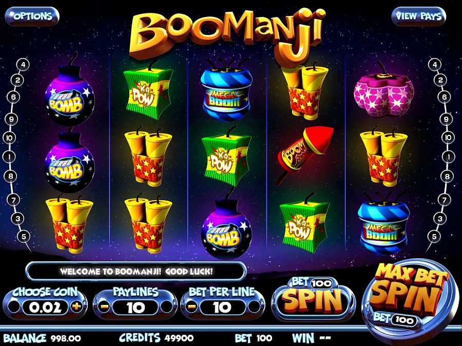 Boomanji Slots Main Screen