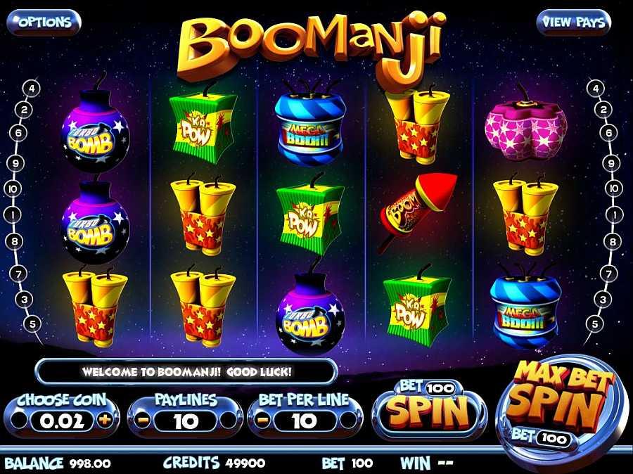 Boomanji Slots Main Screen