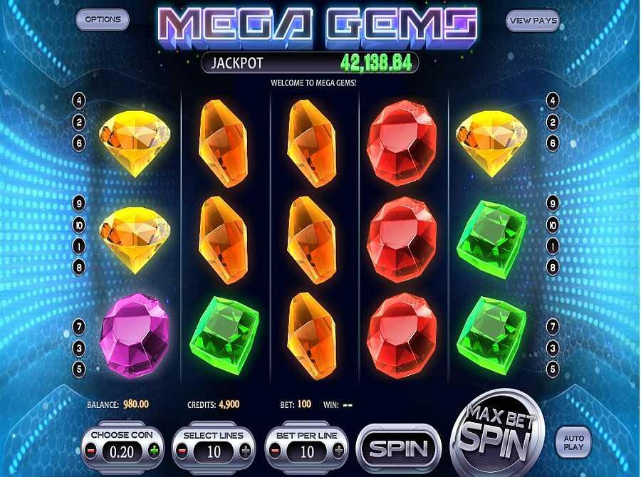Mega Gems Main Slots
