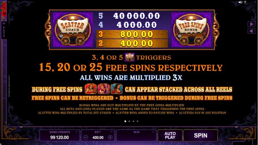 Pistoleras Symbol Free Spins Feature