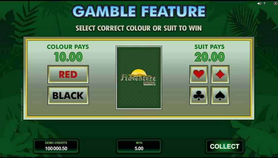 Adventure Palace Gamble Feature