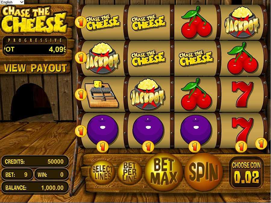 Chase the Cheese Slot Screenshot