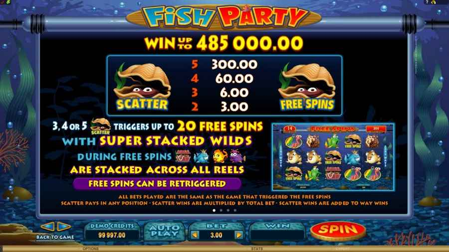 Fish Party Slots Scatter Tiggers Table