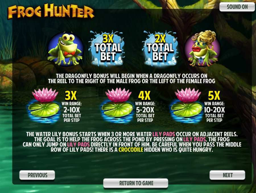 Frog Hunter Bonus Features