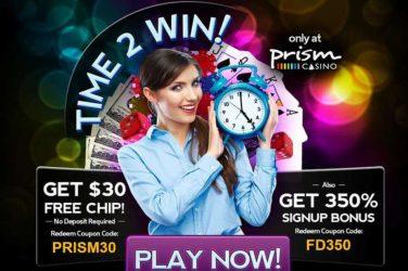 Prism Deposit Bonus: FD350
