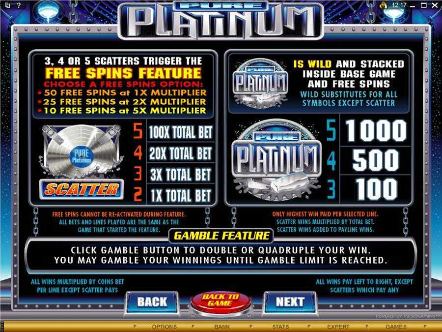 Pure Platinum Bonus Feature