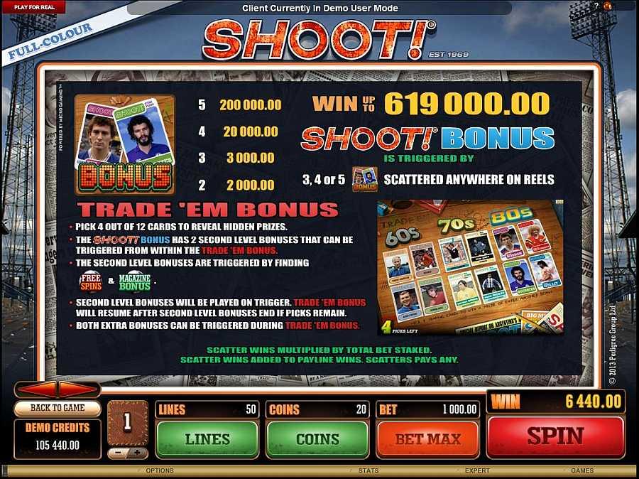 Shoot Bonus Bonus Feature