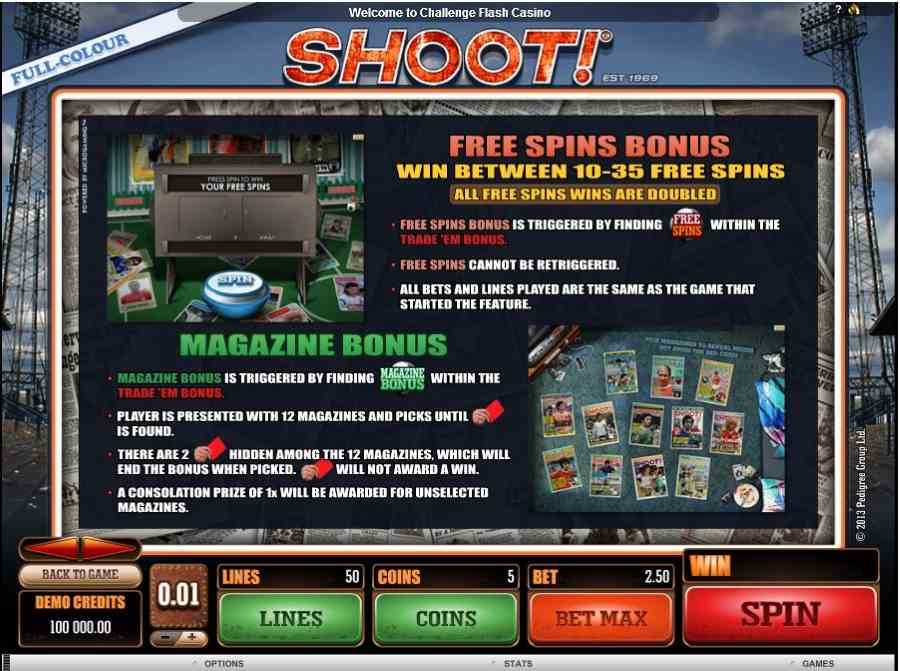 Shoot Free Spins Feature