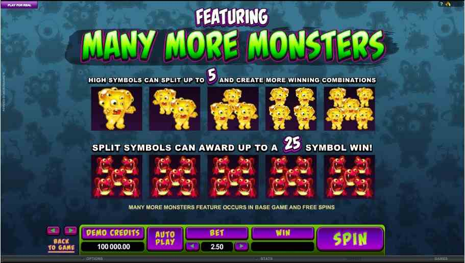 So Many Monsters Symbols Features