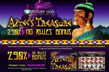 Silver Oak Aztecs Treasure Bonus