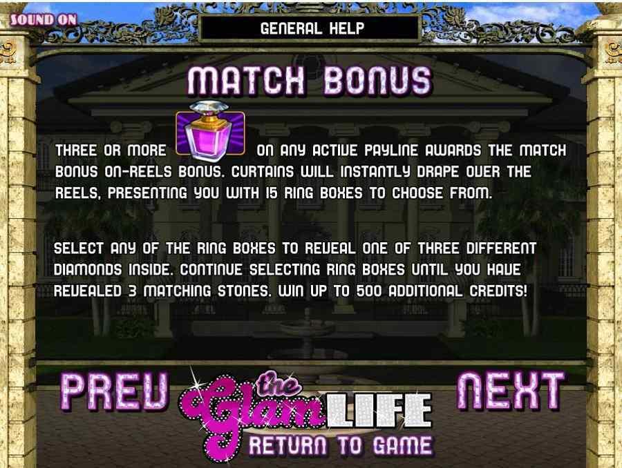 Match Bonus Feature