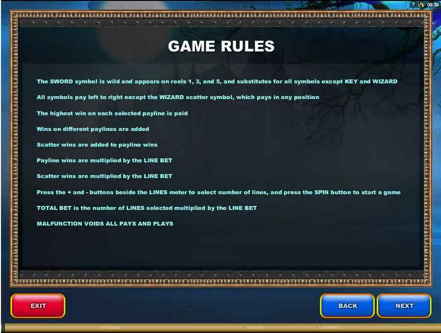 Xcalibur Game Rules