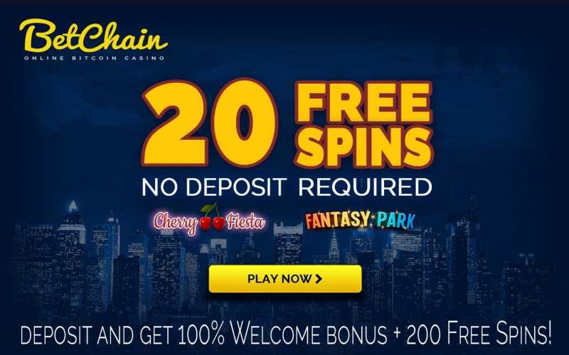 BetChain 20 Free Spins