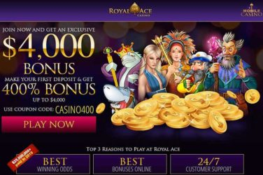 Royal Ace Deposit Bonus CASINO400