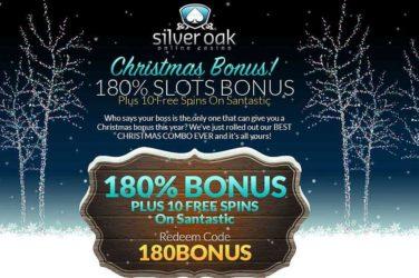 Silver Oak Deposit Bonus Code 180BONUS