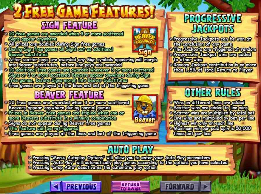 Builder Beaver Game Features