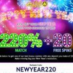 Club Player New Years Bonus Code NEWYEAR220