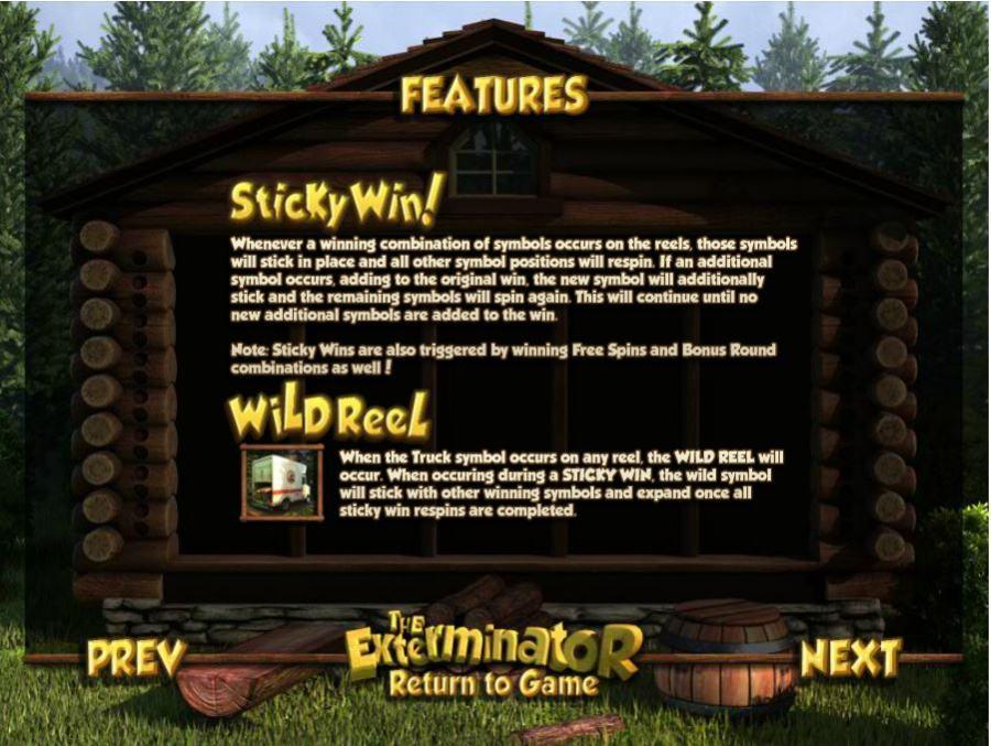 The Exterminator Bonus Features